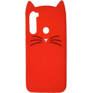 Силиконовый чехол 3D Cat для Samsung Galaxy A21 – Красный