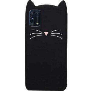 Силиконовый чехол 3D Cat для Samsung Galaxy A31 – Черный