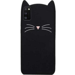 Силиконовый чехол 3D Cat для Samsung Galaxy A41 – Черный