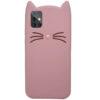 Силиконовый чехол 3D Cat для Samsung Galaxy A71 – Розовый