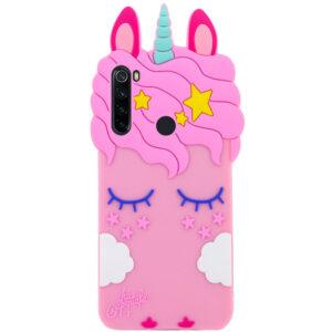 Силиконовый чехол 3D Единорог для Samsung Galaxy A21 – Розовый