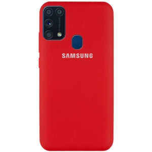 Оригинальный чехол Silicone Cover 360 с микрофиброй для Samsung Galaxy M31 – Красный / Dark Red