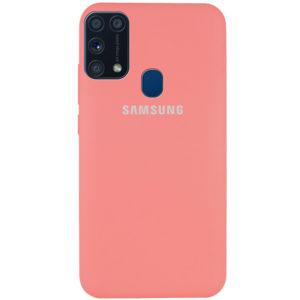 Оригинальный чехол Silicone Cover 360 с микрофиброй для Samsung Galaxy M31 – Красный / Camellia
