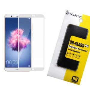 Защитное стекло 3D (5D) Perfect Glass Full Glue Ipaky на весь экран для Huawei P Smart – White