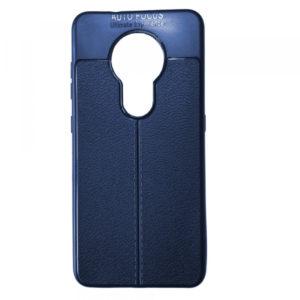 TPU чехол фактурный (с имитацией кожи) для Nokia 7.2 – Blue