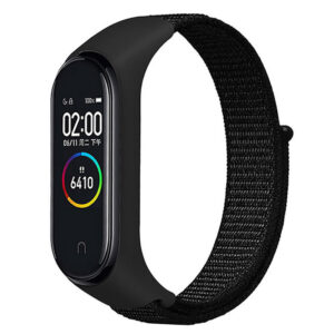 Ремешок Nylon для фитнес-браслета Xiaomi Mi Band 3 / 4 – Черный