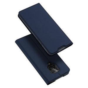 Чехол-книжка Dux Ducis с карманом для Xiaomi Redmi Note 9s / Note 9 Pro / Note 9 Pro Max — Синий