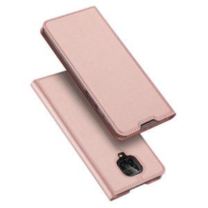 Чехол-книжка Dux Ducis с карманом для Xiaomi Redmi Note 9s / Note 9 Pro / Note 9 Pro Max — Rose Gold