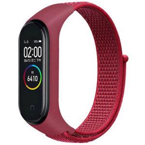Ремешок Nylon для фитнес-браслета Xiaomi Mi Band 3 / 4 – Красный