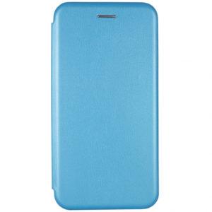 Кожаный чехол-книжка 360 с визитницей для Xiaomi Redmi 7 – Голубой