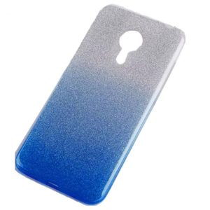 Cиликоновый (TPU) чехол Shine Gradient с блестками для Meizu M5s – Blue