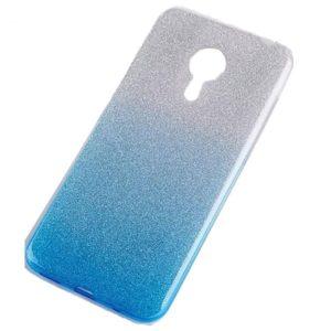 Cиликоновый (TPU) чехол Shine Gradient с блестками для Meizu M5s – Turquoise