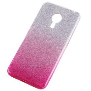 Cиликоновый (TPU) чехол Shine Gradient с блестками для Meizu M5s – Pink