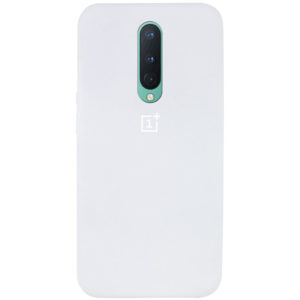 Оригинальный чехол Silicone Cover 360 с микрофиброй для OnePlus 8 – Белый / White