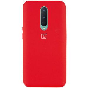 Оригинальный чехол Silicone Cover 360 с микрофиброй для OnePlus 8 – Красный / Red