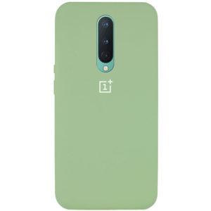Оригинальный чехол Silicone Cover 360 с микрофиброй для OnePlus 8 – Мятный / Mint