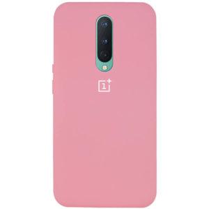 Оригинальный чехол Silicone Cover 360 с микрофиброй для OnePlus 8 – Розовый / Pink