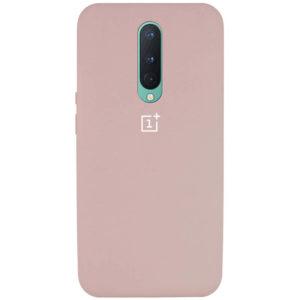 Оригинальный чехол Silicone Cover 360 с микрофиброй для OnePlus 8 – Розовый / Pink Sand