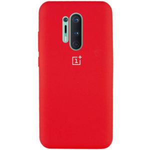 Оригинальный чехол Silicone Cover 360 с микрофиброй для OnePlus 8 Pro – Красный / Red