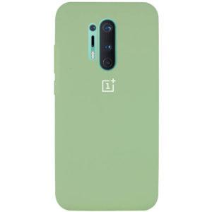 Оригинальный чехол Silicone Cover 360 с микрофиброй для OnePlus 8 Pro – Мятный / Mint