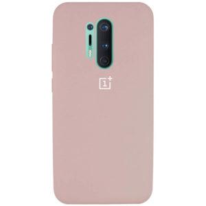 Оригинальный чехол Silicone Cover 360 с микрофиброй для OnePlus 8 Pro – Розовый / Pink Sand