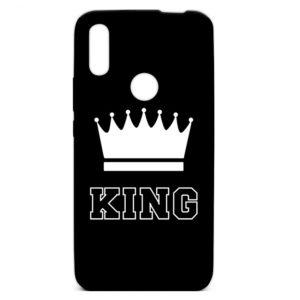 Силиконовый TPU чехол TOTO Pure Print Case с рисунком для Huawei P Smart Z – King Black