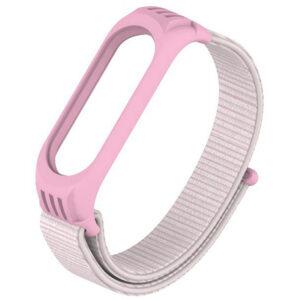 Ремешок Nylon для фитнес-браслета Xiaomi Mi Band 3 / 4 – Розовый