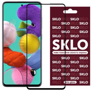 Защитное стекло 3D / 5D Premium SKLO Full Glue на весь экран для Samsung Galaxy A51 / M31s – Black