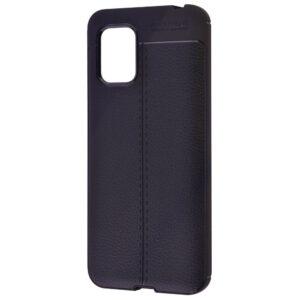 TPU чехол фактурный (с имитацией кожи) для Xiaomi Mi 10 Lite – Черный