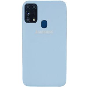 Оригинальный чехол Silicone Cover 360 с микрофиброй для Samsung Galaxy M31 – Голубой / Lilac Blue