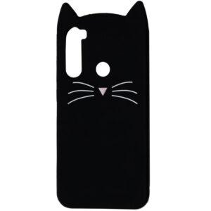 Силиконовый чехол 3D Cat для Samsung Galaxy A21 – Черный