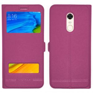 Кожаный чехол-книжка Moмax для Xiaomi Redmi 5 Plus – Pink
