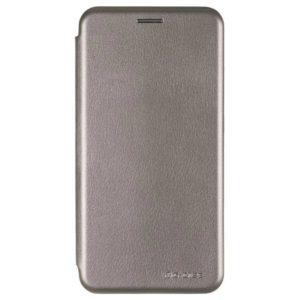 Кожаный чехол-книжка 360 с визитницей для Samsung J710 Galaxy J7 2016 – Grey