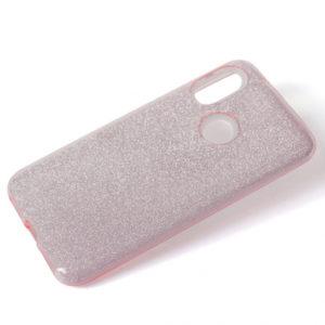 Силиконовый (TPU+PC) чехол Shine с блестками для Huawei P Smart Z – Pink