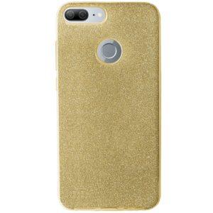 Cиликоновый (TPU+PC) чехол Shine с блестками для Huawei Honor 9 Lite – Gold