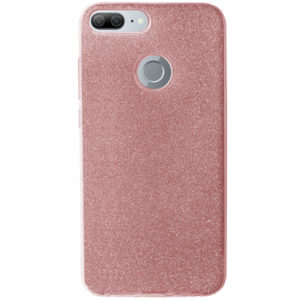 Cиликоновый (TPU+PC) чехол Shine с блестками для Huawei Honor 9 Lite – Pink