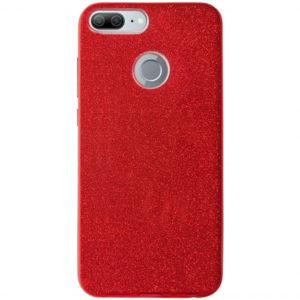 Cиликоновый (TPU+PC) чехол Shine с блестками для Huawei Honor 9 Lite – Red