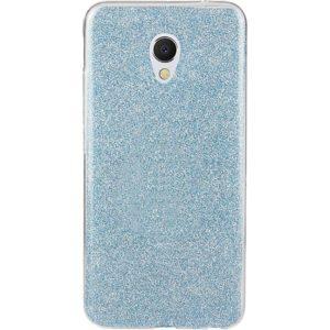 Cиликоновый (TPU+PC) чехол Shine с блестками для Meizu M5s – Blue