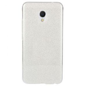 Cиликоновый (TPU+PC) чехол Shine с блестками для Meizu M5s – Silver