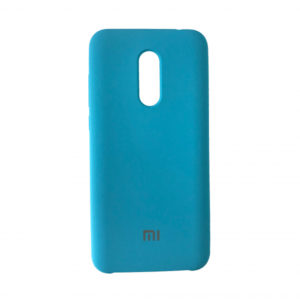 Оригинальный чехол Silicone case с микрофиброй для Xiaomi Redmi 5 Plus – Tahoe Blue