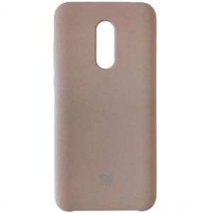 Оригинальный чехол Silicone case с микрофиброй для Xiaomi Redmi 5 Plus – Lavander