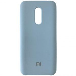 Оригинальный чехол Silicone case с микрофиброй для Xiaomi Redmi 5 Plus – Lilac Cream