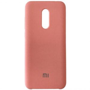 Оригинальный чехол Silicone case с микрофиброй для Xiaomi Redmi 5 Plus – Pink