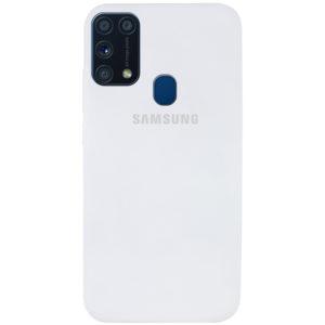 Оригинальный чехол Silicone Cover 360 с микрофиброй для Samsung Galaxy M31 – Белый / White