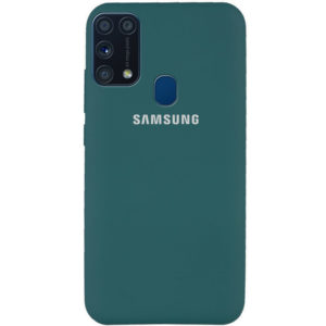 Оригинальный чехол Silicone Cover 360 с микрофиброй для Samsung Galaxy M31 – Зеленый / Pine green