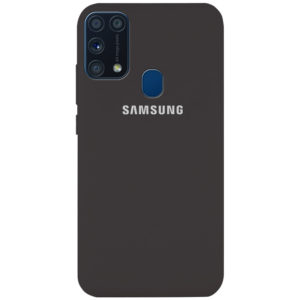 Оригинальный чехол Silicone Cover 360 с микрофиброй для Samsung Galaxy M31 – Серый / Dark Grey