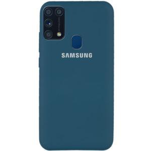 Оригинальный чехол Silicone Cover 360 с микрофиброй для Samsung Galaxy M31 – Синий / Cosmos Blue