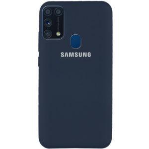 Оригинальный чехол Silicone Cover 360 с микрофиброй для Samsung Galaxy M31 – Синий / Midnight Blue
