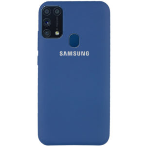 Оригинальный чехол Silicone Cover 360 с микрофиброй для Samsung Galaxy M31 – Синий / Navy Blue