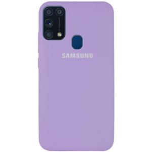 Оригинальный чехол Silicone Cover 360 с микрофиброй для Samsung Galaxy M31 – Сиреневый / Dasheen